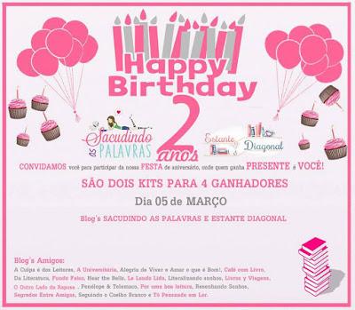 Aniversário de 2 Anos do Estante Diagonal!